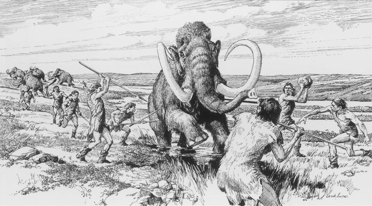дорога охота первобытных людей рисунки цирке братьев запашных