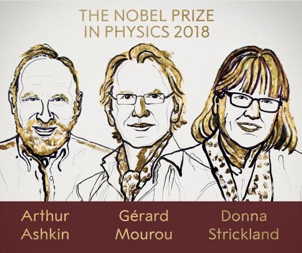 Нобелевская премия по физике 2018 года присуждена за создание двух очень разных лазерных технологий