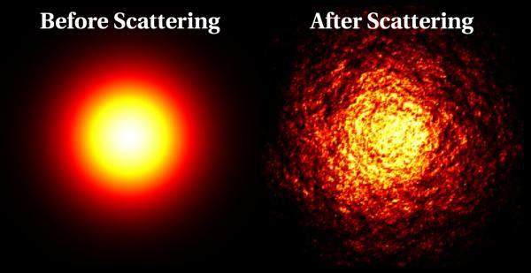 Художественное изображение центра активной галактики. (Копирайт Wolfgang Steffen, институт астрономии, UNAM, Мексика.)