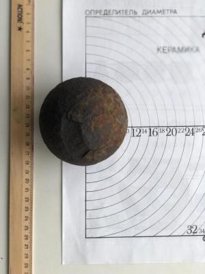 При раскопках острога найдено около двадцати разнокалиберных пушечных ядер