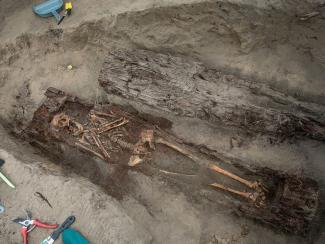 Сотрудники Института археологии и этнографии СО РАН изучают останки жителей села Кривощёково